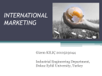 INTERNATİONAL MARKETİNG
