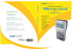 pre-calculus - Casio Education