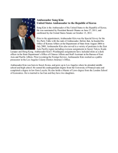 Ambassador Sung Kim United States Ambassador to the Republic of