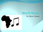 World Music - Digital Portfolio of Myron Marchell Karijawan
