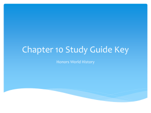 Chapter 10 Study Guide Key Honors