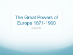 The Great Powers of Europe 1871-1900