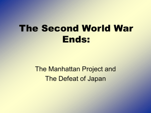 The Second World War Ends: