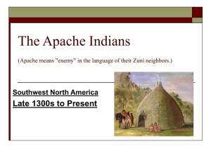 (The Apache and Navajo Indian Tribes) are generally believed to