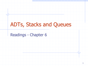ADTs, Stacks and Queues