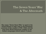 The Seven Years War Conclusion