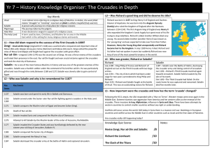Yr 7 – History Knowledge Organiser: The Crusades in Depth