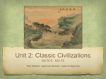 Unit 2: Classic Civilizations 600 BCE - 600 CE