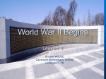 Chapter 8 Lesson 4 World War II Begins
