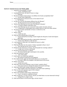 Answers Ancient Greece test Study guide