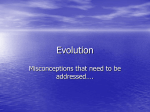 Evolution misconceptions