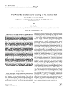 The Primordial Excitation and Clearing of the Asteroid Belt