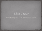 Julius Caesar history before play