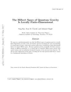 The Hilbert Space of Quantum Gravity Is Locally Finite