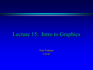 Intro to Graphics - UNC Computer Science