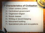 7 Characteristics of Early Civilizations
