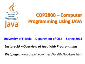 COP2800 * Computer Programming Using JAVA