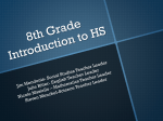 Power Point - 8th Grade introduction to HS