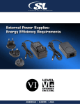 External Power Supplies: Energy Efficiency