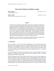 Time Series Prediction and Online Learning