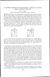 A Graphic Method Of Measuring Vertical Angles From