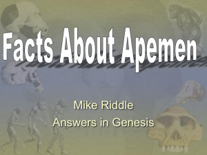 18-Facts About Apemen (Mike Riddle CTI
