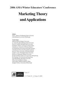 2006 ABA Winter Educators` Conference—Marketing Theory