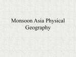 Monsoon Asia Physical Geography