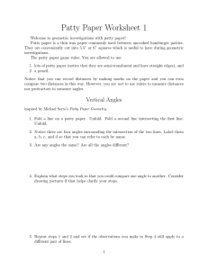 Patty Paper Worksheet 1