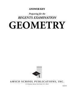 Preparing for the Regents Examination Geometry, AK