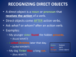 DIRECT OBJECT!