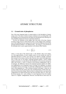 atomic structure - The Budker Group