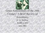 Great Astronomers of the 20th Century