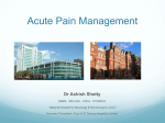 Acute pain relief at a teaching Hospital