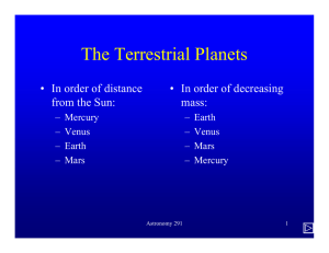 The Terrestrial Planets