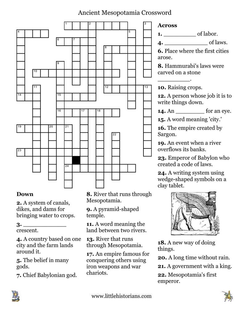 Ancient Mesopotamia Crossword