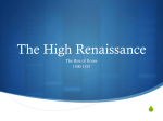 The High Renaissance
