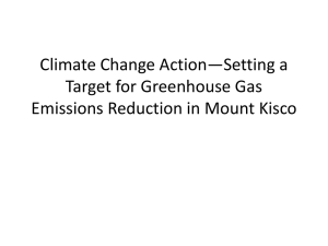 Presentation on Emissions Reduction Target