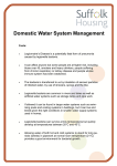 Domestic Water system management
