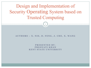 Design and Implementation of Security Operating System based on