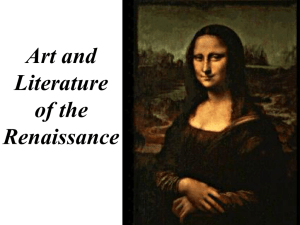 Art and Literature of the Renaissance Classical Influences