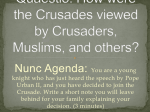 Quaestio: Why were the Crusades fought?