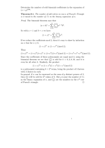 Determine the number of odd binomial coefficients in the expansion
