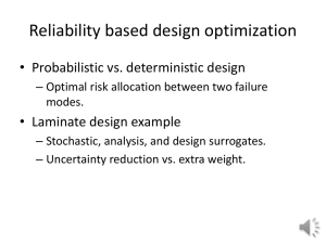 Reliability-based optimization