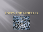 Rocks and Minerals - Center Grove Schools