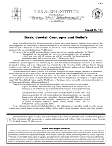 Basic Jewish Concepts and Beliefs