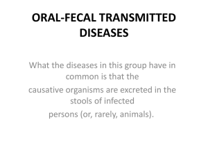 ORAL-FECAL TRANSMITTED DISEASES