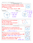 The sum of the measures of the central angles of a circle with no
