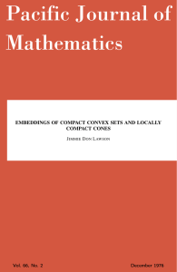 Embeddings of compact convex sets and locally compact cones