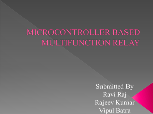 microcontroller based multifunction relay